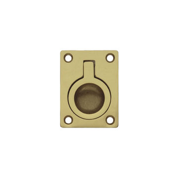 Classic Hardware Single Brass Recessed Pull
