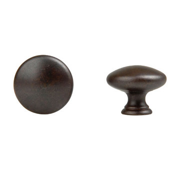 Classic Hardware Solid Brass Simple Round Cabinet Knob