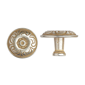 Marella Antique Round Floral Cabinet Knob