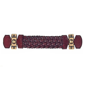 Marella Bordeaux Braided Leather Cabinet Pull