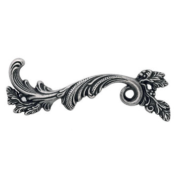 Marella Ornate Frond Cabinet Pull - Left Side