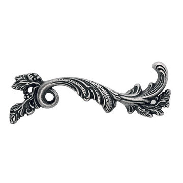 Marella Ornate Frond Classic Cabinet Pull - Right Side