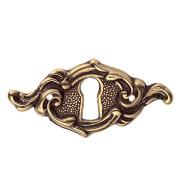 Marella Ornate Horizontal Escutcheon With Key Hole