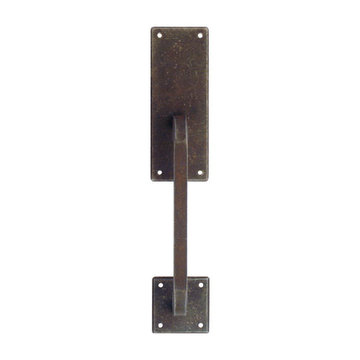 Marella Primitive Vertical Cabinet Pull With Backplate