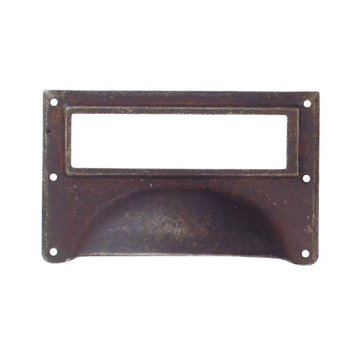 Marella Schoolhouse Brass Cup Bin Pull Card Holder