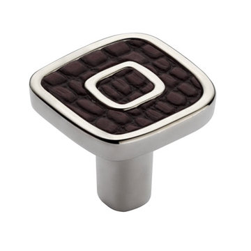 Marella Small Square Leather Cabinet Knob