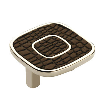 Marella Square Leather Cabinet Knob - 32mm