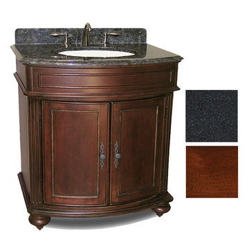 Kaco Arlington 30 Cherry Vanity With Black Granite Top