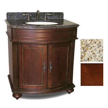 Kaco Arlington 30 Cherry Vanity With Gold Hill Granite Top