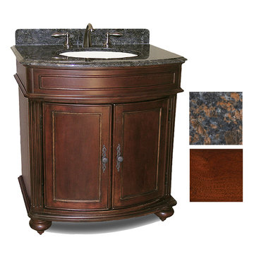 Kaco Arlington 30 Cherry Vanity With Tan Brown Granite Top