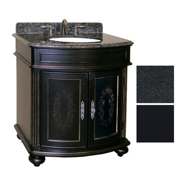 Kaco Arlington 30 Ebony Vanity With Black Granite Top
