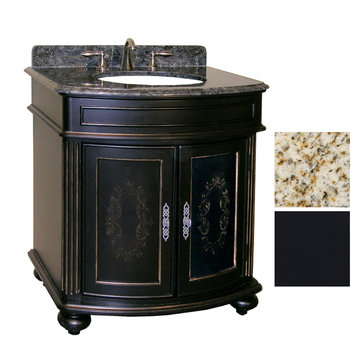 Kaco Arlington 30 Ebony Vanity With Gold Hill Granite Top