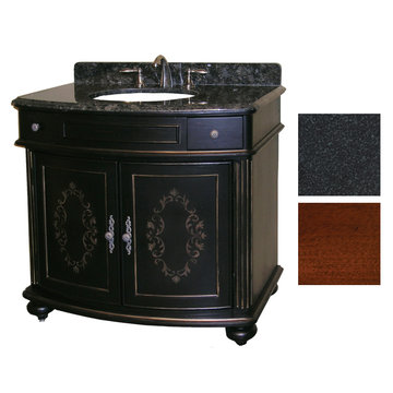 Kaco Arlington 36 Cherry Vanity With Black Granite Top