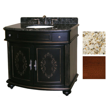 Kaco Arlington 36 Cherry Vanity With Gold Hill Granite Top