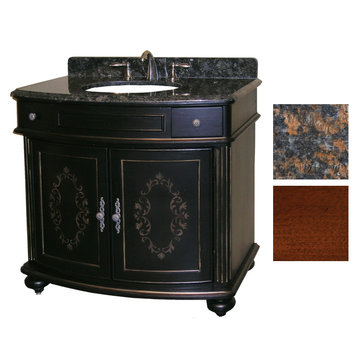 Kaco Arlington 36 Cherry Vanity With Tan Brown Granite Top