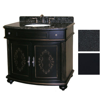 Kaco Arlington 36 Ebony Vanity With Black Granite Top