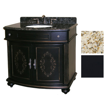 Kaco Arlington 36 Ebony Vanity With Gold Hill Granite Top