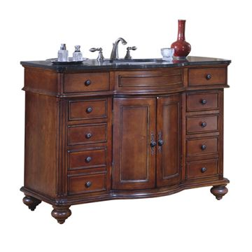 Kaco Arlington 48 Cherry Vanity With Black Granite Top