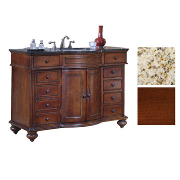 Kaco Arlington 48 Cherry Vanity With Gold Hill Granite Top