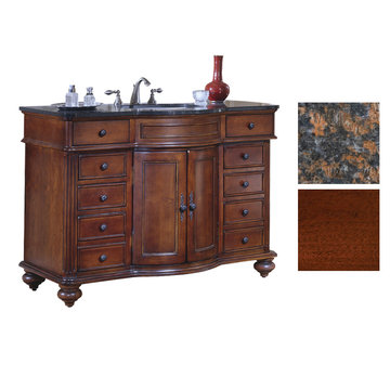 Kaco Arlington 48 Cherry Vanity With Tan Brown Granite Top
