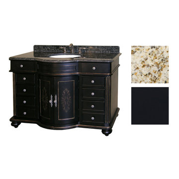 Kaco Arlington 48 Ebony Vanity With Gold Hill Granite Top