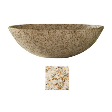 Kaco Arlington Gold Hill Granite Round Vessel Sink