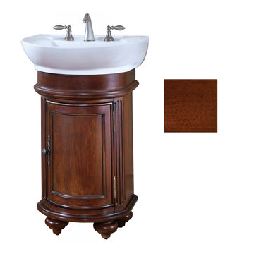 Kaco Arlington Round Cherry Vanity With White Porcelain Sink