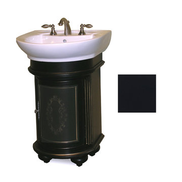Kaco Arlington Round Ebony Vanity With White Porcelain Sink