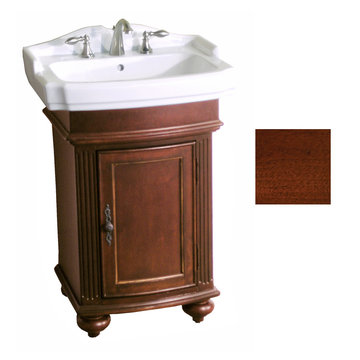 Kaco Arlington Square Cherry Vanity With White Porcelain Sink