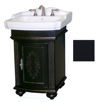 Kaco Arlington Square Ebony Vanity With White Porcelain Sink