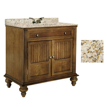 Kaco Barbados 30 Vanity With Gold Hill Granite Top