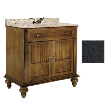 Kaco Barbados 36 Vanity With Black Granite Top