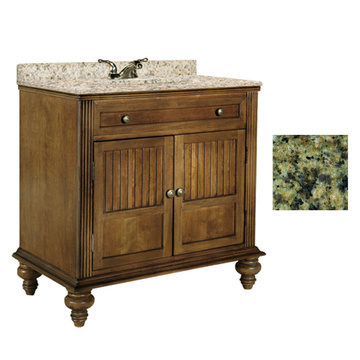 Kaco Barbados 36 Vanity With Green Granite Top