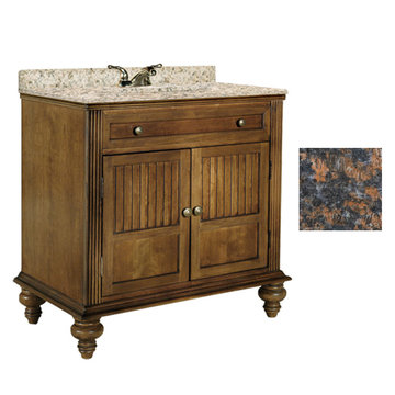 Kaco Barbados 36 Vanity With Tan Brown Granite Top