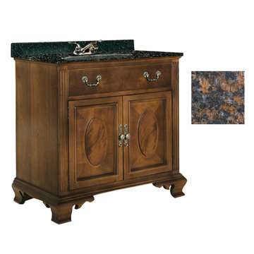 Kaco Dorchester 30 Vanity With Tan Brown Granite Top