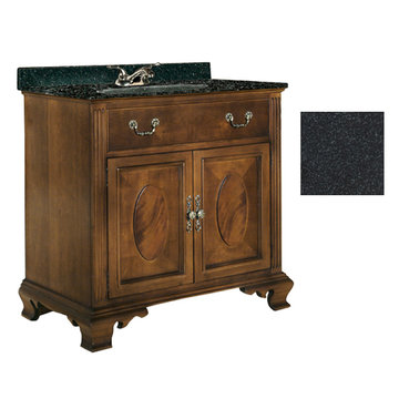 Kaco Dorchester 36 Vanity With Black Granite Top