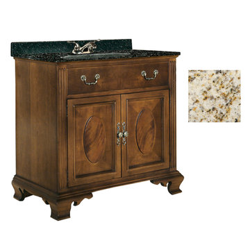 Kaco Dorchester 36 Vanity With Gold Hill Granite Top