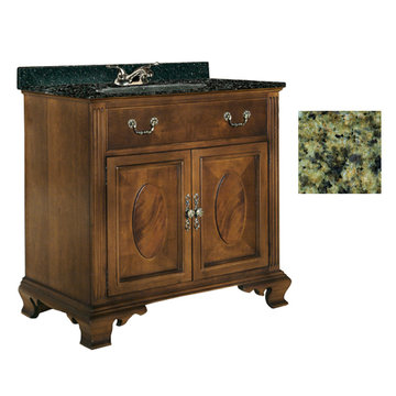 Kaco Dorchester 36 Vanity With Green Granite Top