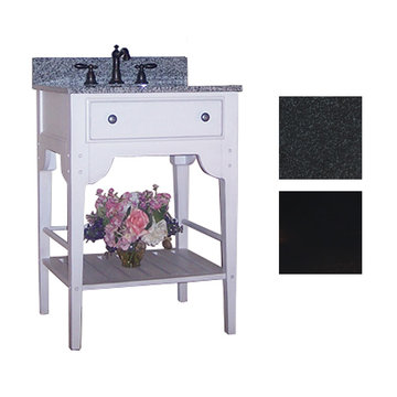 Kaco Dover 24 Black Vanity With Black Granite Top