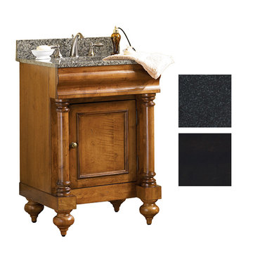 Kaco Guild Hall 24 Black Vanity With Black Granite Top