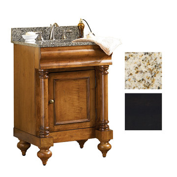 Kaco Guild Hall 24 Black Vanity With Gold Hill Granite Top