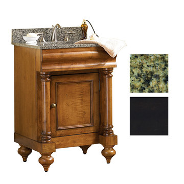 Kaco Guild Hall 24 Black Vanity With Green Granite Top