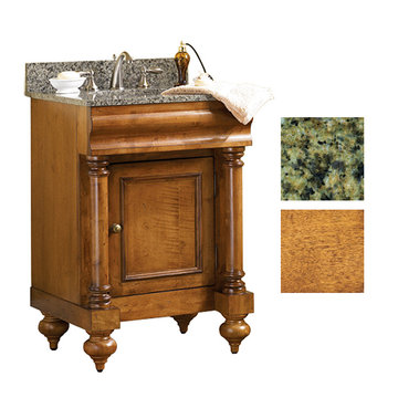 Kaco Guild Hall 24 Pecan Vanity With Green Granite Top