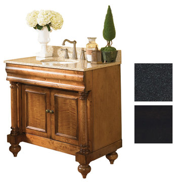 Kaco Guild Hall 36 Black Vanity With Black Granite Top