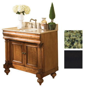 Kaco Guild Hall 36 Black Vanity With Green Granite Top