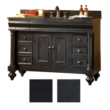 Kaco Guild Hall 48 Black Vanity With Black Granite Top
