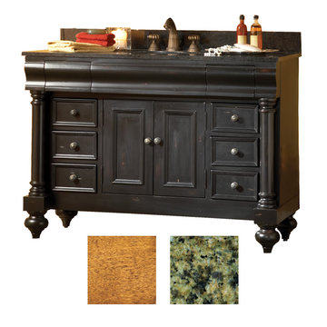Kaco Guild Hall 48 Pecan Vanity With Green Granite Top