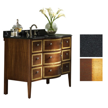 Kaco Guilford Manor 48 Oxford Brown Vanity With Black Granite Top