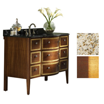 Kaco Guilford Manor 48 Oxford Brown Vanity With Gold Hill Granite Top