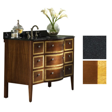 Kaco Guilford Manor 48 Cognac Vanity With Black Granite Top